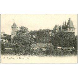 carte postale ancienne 44 PORNIC. Château vers 1900