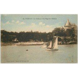 carte postale ancienne 44 PORNIC. Plage du Château