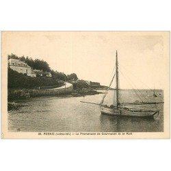 carte postale ancienne 44 PORNIC. Promenade de Gourmalon et Port