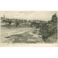 carte postale ancienne 44 PORNIC. Rochers du Port 1915