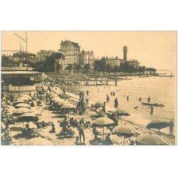 carte postale ancienne 06 NICE. La Plage et Hôtel Les algues. Photographe Lucarelli