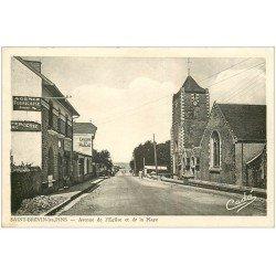 carte postale ancienne 44 SAINT-BREVIN-LES-PINS. Avenue de l'Eglise et de la Plage. epicerie du Marché 1960