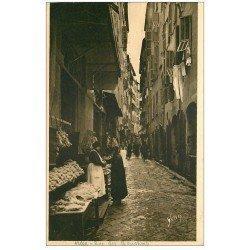 carte postale ancienne 06 NICE. La Rue des Bouchers