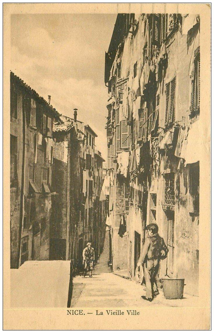 carte postale ancienne 06 NICE. La Vieille Ville 1934