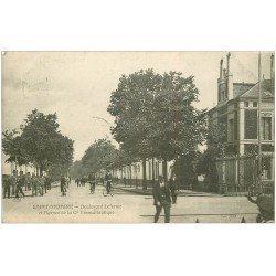 carte postale ancienne 44 SAINT-NAZAIRE. Boulevard Leferme et Agence Cie Transatlantique 1907