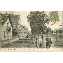 carte postale ancienne 44 SAINT-NAZAIRE. Boulevard Océan 1921
