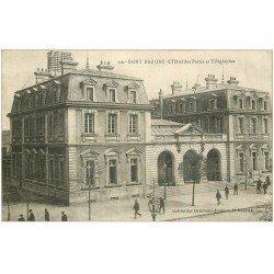 carte postale ancienne 44 SAINT-NAZAIRE. Hôtel Postes et Télégraphes 1922