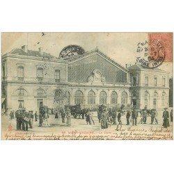 carte postale ancienne 44 SAINT-NAZAIRE. La Gare 1904