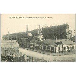 """carte postale ancienne 44 SAINT-NAZAIRE. Le Paquebot """""""" La France """""""" sous Cale"""