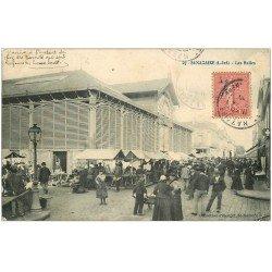 carte postale ancienne 44 SAINT-NAZAIRE. Les Halles 1907