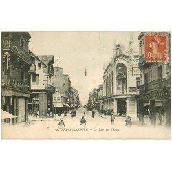"""carte postale ancienne 44 SAINT-NAZAIRE. Magasin """""""" Compagnie Singer """""""" rue de Nantes"""