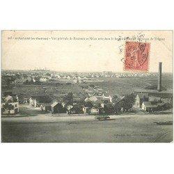 carte postale ancienne 44 SAINT-NAZAIRE. Penhoet et Méan 1908. Hauts Fourneaux de Trignac