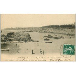 carte postale ancienne 44 SAINT-NAZAIRE. Plage Saint-Marc 1907