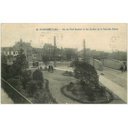 carte postale ancienne 44 SAINT-NAZAIRE. Pont Roulant et Jardins 1911