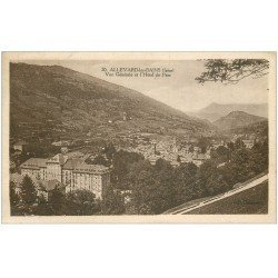carte postale ancienne 38 ALLEVARD-LES-BAINS. Hôtel du Parc 1933