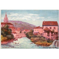 carte postale ancienne 38 ALLEVARD-LES-BAINS. Vu par Jauliez Melchior 1905