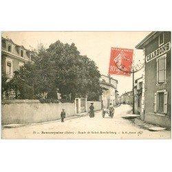 carte postale ancienne 38 BEAUREPAIRE. Route de Saint-Barthélémy