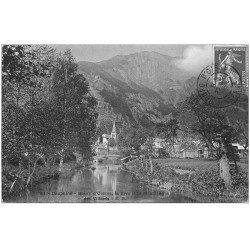 carte postale ancienne 38 BOURG D'OISANS. Rive et Montagne des Villards 1909
