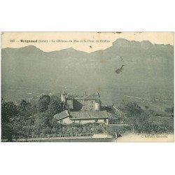 carte postale ancienne 38 BRIGNOUD. Château de Mas et Dent de Crolles 1913