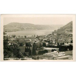 carte postale ancienne 38 CHARAVINES. Le Lac. Carte Photo