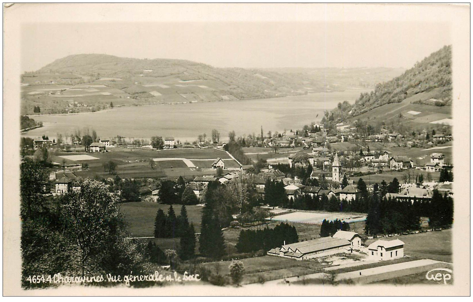 carte postale ancienne 38 CHARAVINES. Le Lac. Carte Photo