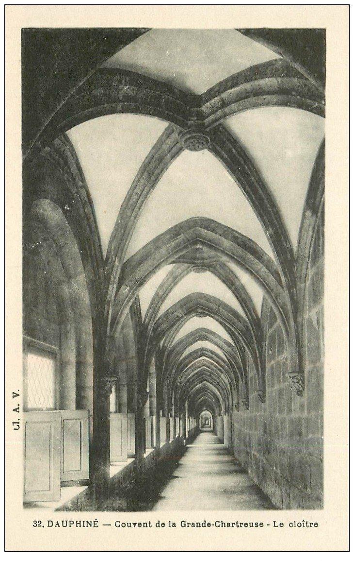 carte postale ancienne 38 CHARTREUSE. Cloître