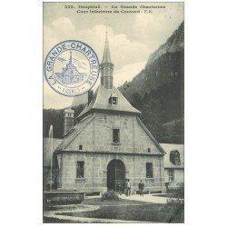 carte postale ancienne 38 CHARTREUSE. Cour du Couvent