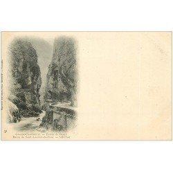 carte postale ancienne 38 CHARTREUSE. Désert Route Saint-Laurent-du-Pont vers 1900