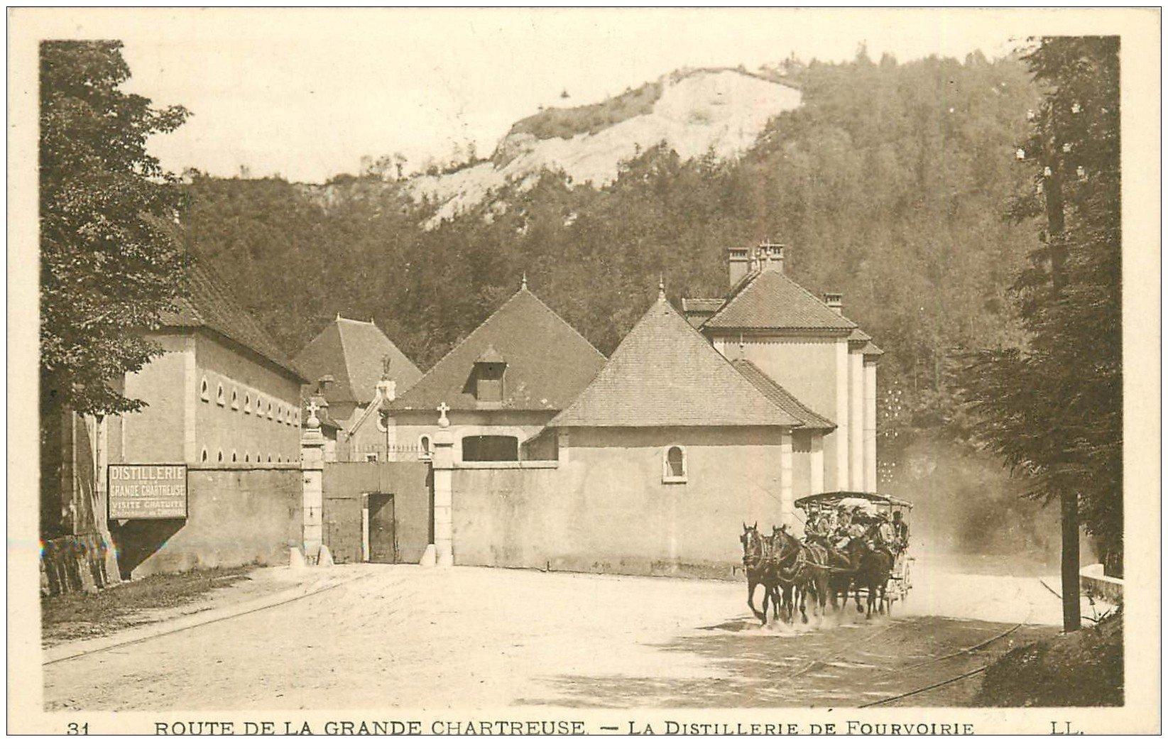 carte postale ancienne 38 CHARTREUSE. Distillerie de Fourvoirie