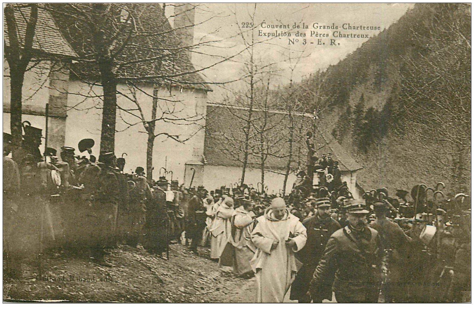 carte postale ancienne 38 CHARTREUSE. Expulsion Pères Chartreux n°3