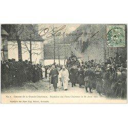carte postale ancienne 38 CHARTREUSE. Expulsion Pères Chartreux 1907 n°4