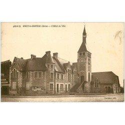 carte postale ancienne 02 ANIZY-LE-CHATEAU. Hôtel de Ville