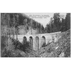 carte postale ancienne 38 CHARTREUSE. Pont Saint-Pierre et Grand Som