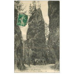 carte postale ancienne 38 CHARTREUSE. Route du Désert Pic de l'Oeillette 1912