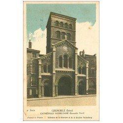 carte postale ancienne 38 GRENOBLE. Cathédrale Notre-Dame. Carte notice