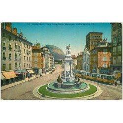 carte postale ancienne 38 GRENOBLE. Centenaire Place Notre-Dame