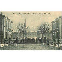 carte postale ancienne 38 GRENOBLE. Chasseurs Alpins Quartier Bayard