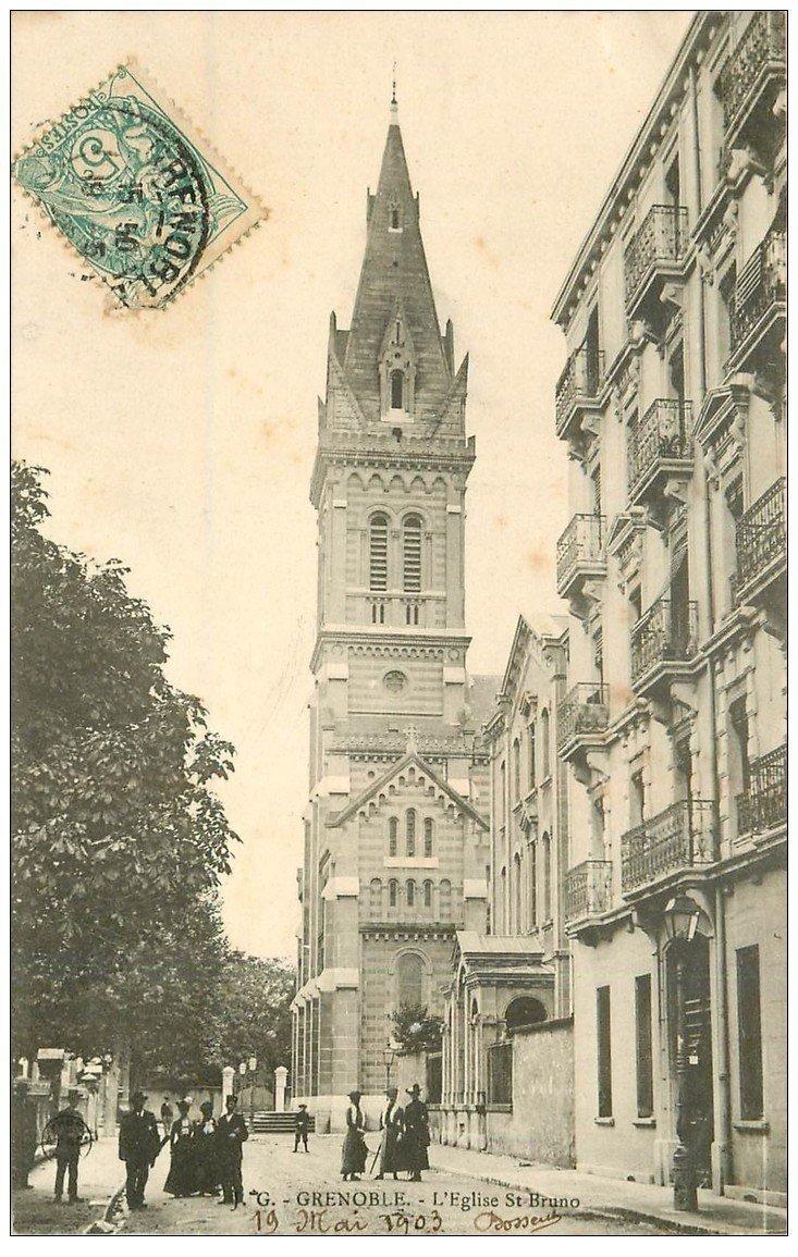 carte postale ancienne 38 GRENOBLE. Eglise Saint Bruno 1903