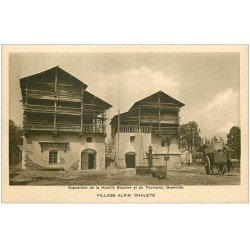 carte postale ancienne 38 GRENOBLE. Expo de la Houille Blanche. Châlets