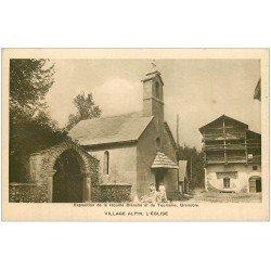 carte postale ancienne 38 GRENOBLE. Expo de la Houille Blanche. Eglise