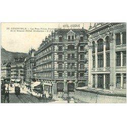carte postale ancienne 38 GRENOBLE. Grand Hôtel Moderne rue Félix-Poulat