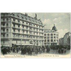 carte postale ancienne 38 GRENOBLE. Hôtel Moderne rue Félix-Poulat