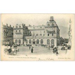 carte postale ancienne 38 GRENOBLE. Hôtel Postes et Télégraphes 1902