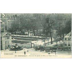 carte postale ancienne 38 GRENOBLE. Jardin de Ville et Vedette Gauloise