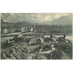 carte postale ancienne 38 GRENOBLE. Jardin des Dauphins 1917