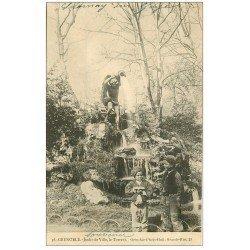 carte postale ancienne 38 GRENOBLE. Jeunes Ramoneurs Jardin de Ville le Torrent 1903