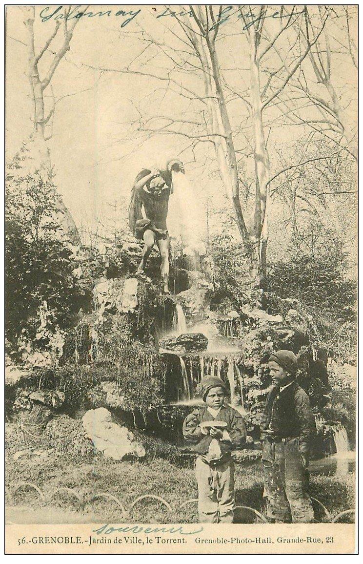 38 grenoble jeunes ramoneurs jardin de ville le torrent 1903. Black Bedroom Furniture Sets. Home Design Ideas