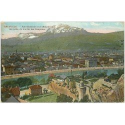 carte postale ancienne 38 GRENOBLE. Le Moucherotte 1911 vu du Jardin des Dauphins