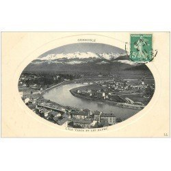 carte postale ancienne 38 GRENOBLE. L'Ile Verte 1911