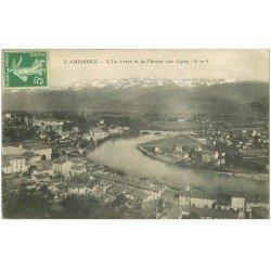 carte postale ancienne 38 GRENOBLE. L'Ile Verte et Alpes n°3